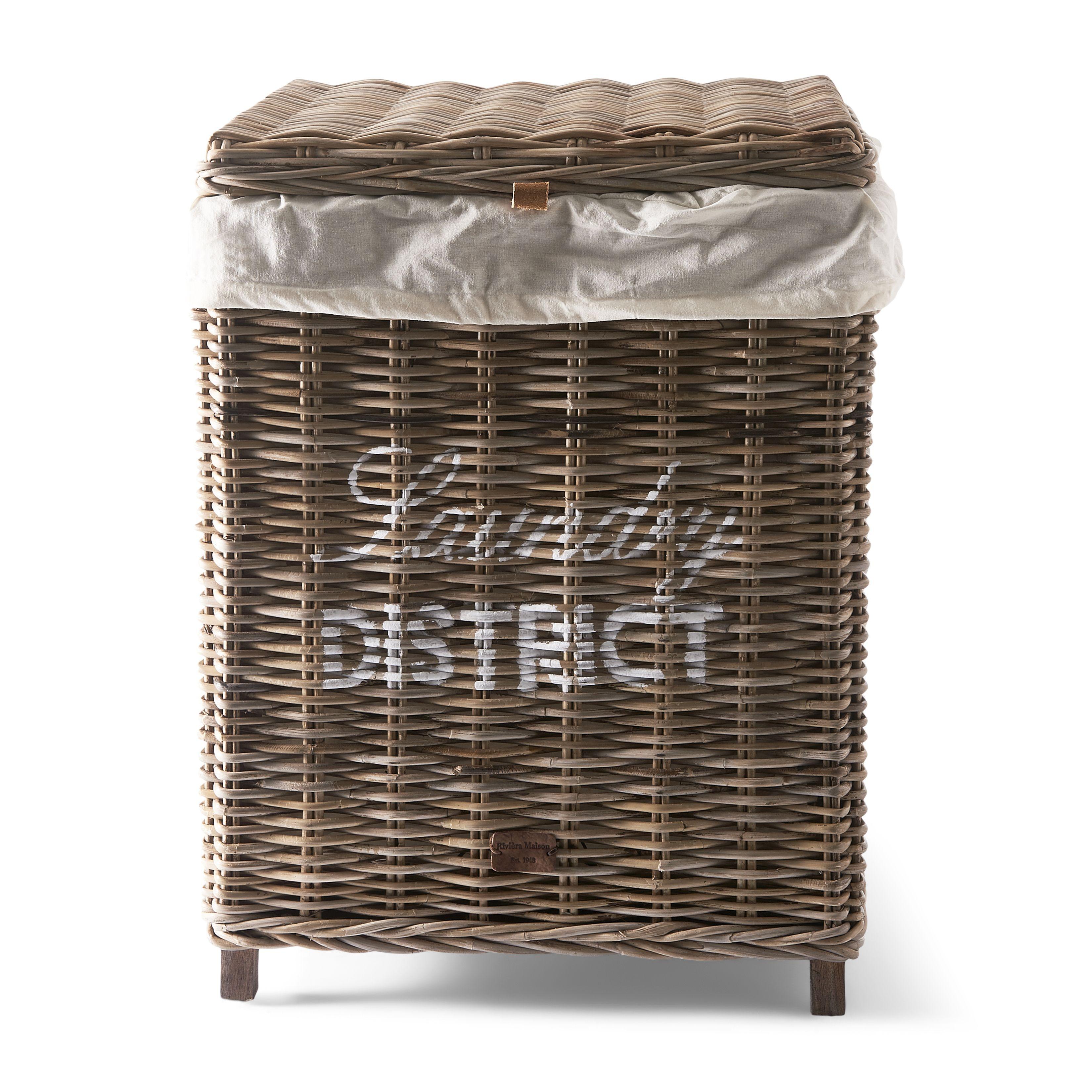 Rustic Rattan Laundry District Basket / Rivièra Maison