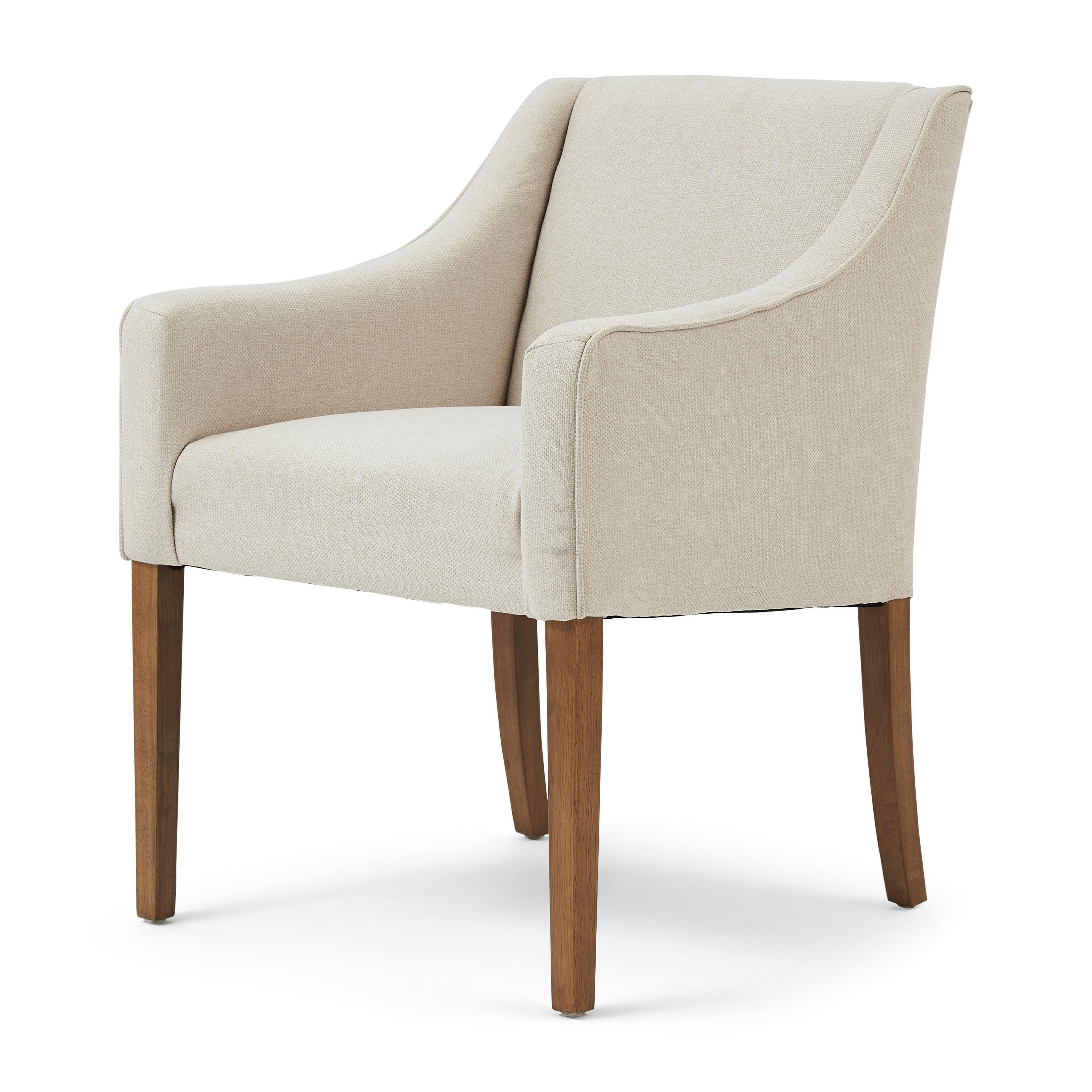 Savile Row Dining Arm Chair oxford weave flanders flax / Rivièra Maison