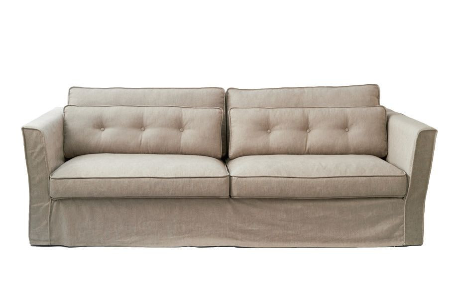 south wimbledon sofa 3 5 seater washed cotton ashgrey rivi ra maison. Black Bedroom Furniture Sets. Home Design Ideas