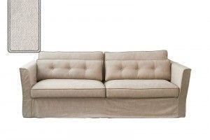 South Wimbledon Sofa 3,5 Seater, velvet, pearl / Rivièra Maison