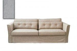 South Wimbledon Sofa 3,5 Seater, velvet, platinum / Rivièra Maison