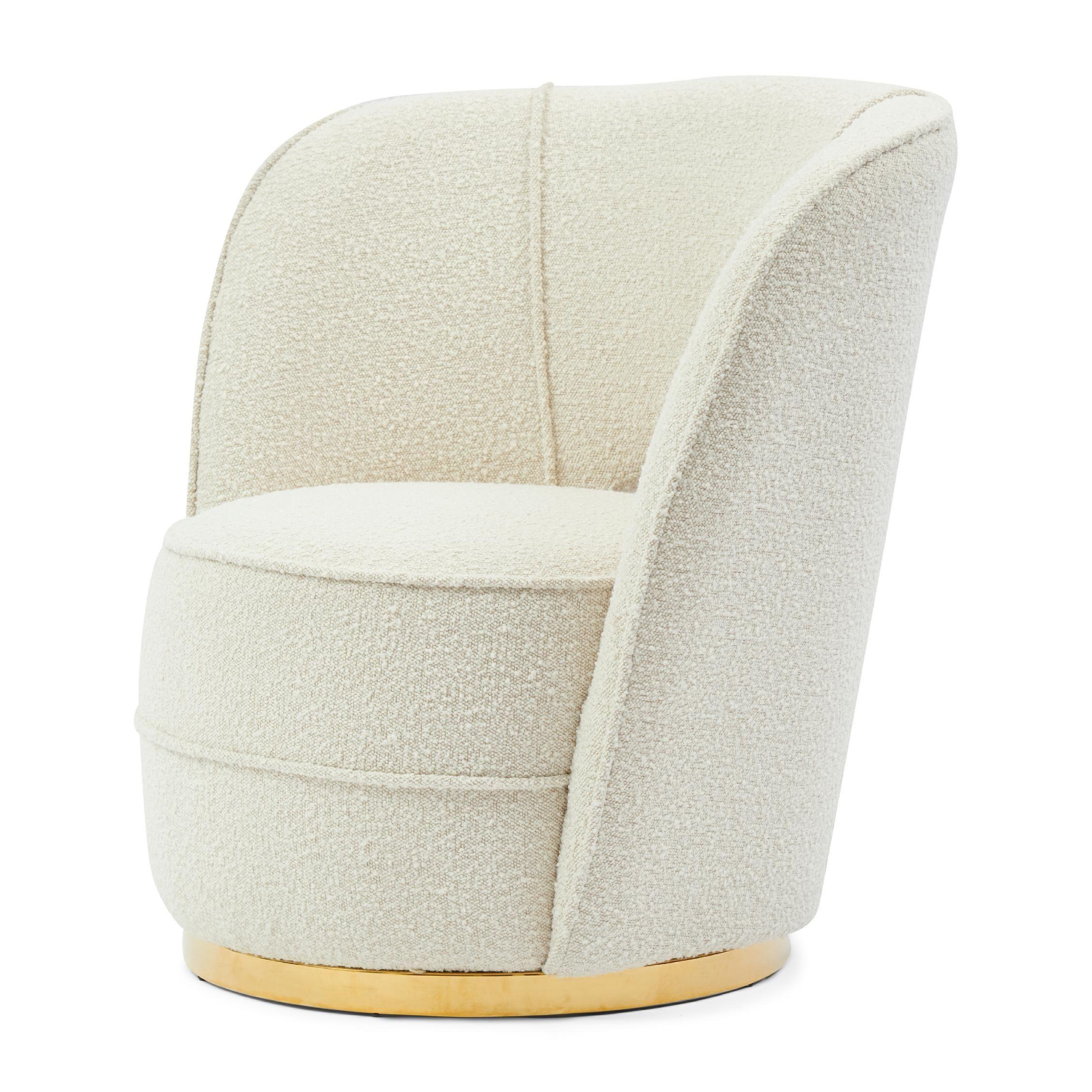 Taylor Lobby Armchair boucle white sand / Rivièra Maison