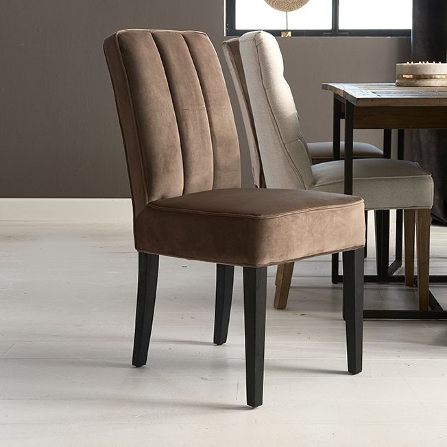 The Jade Dining Chair velvet III golden mink / Rivièra Maison