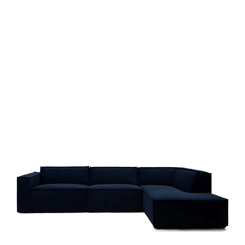 The Jagger Chaise Lounge Right velvet midnight blue / Rivièra Maison