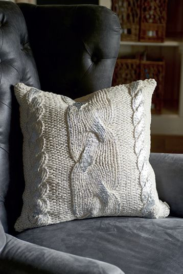 The Silver Knit Pillow 50x50 / Rivièra Maison