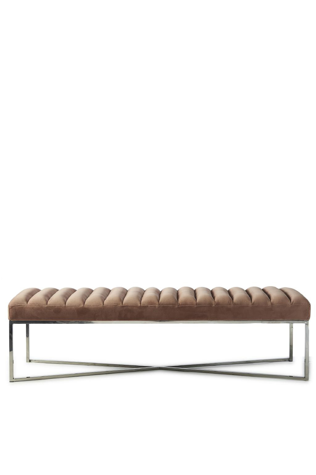Thompson Bench, velvet, blush / Rivièra Maison