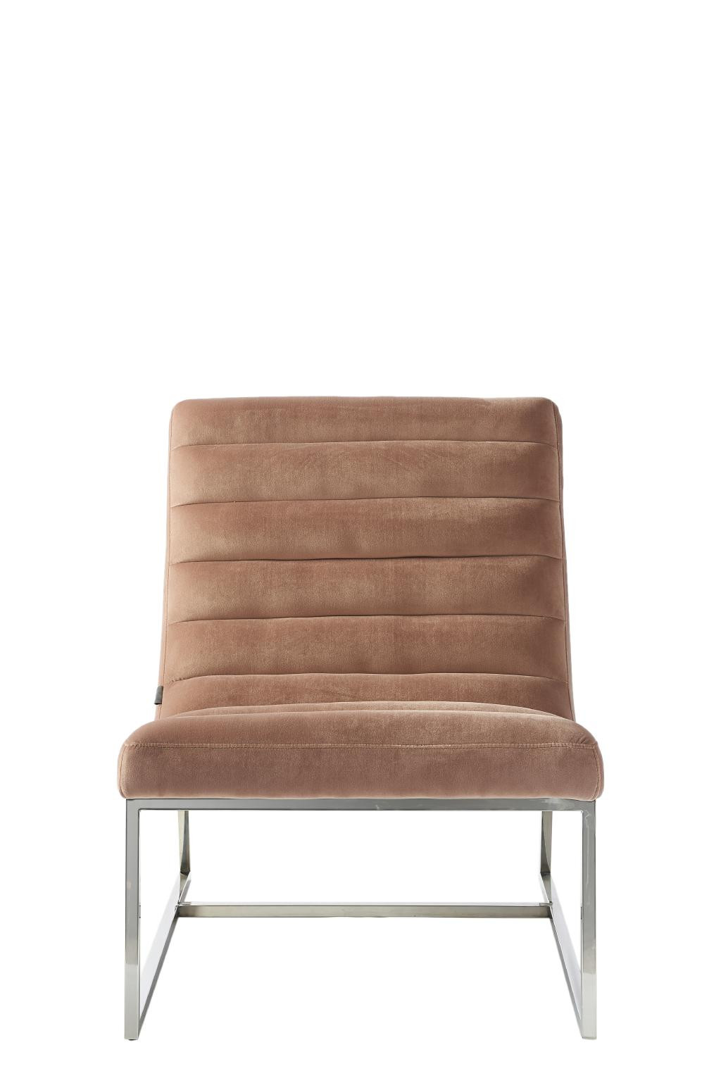 Thompson Lounge Chair, velvet, blush / Rivièra Maison