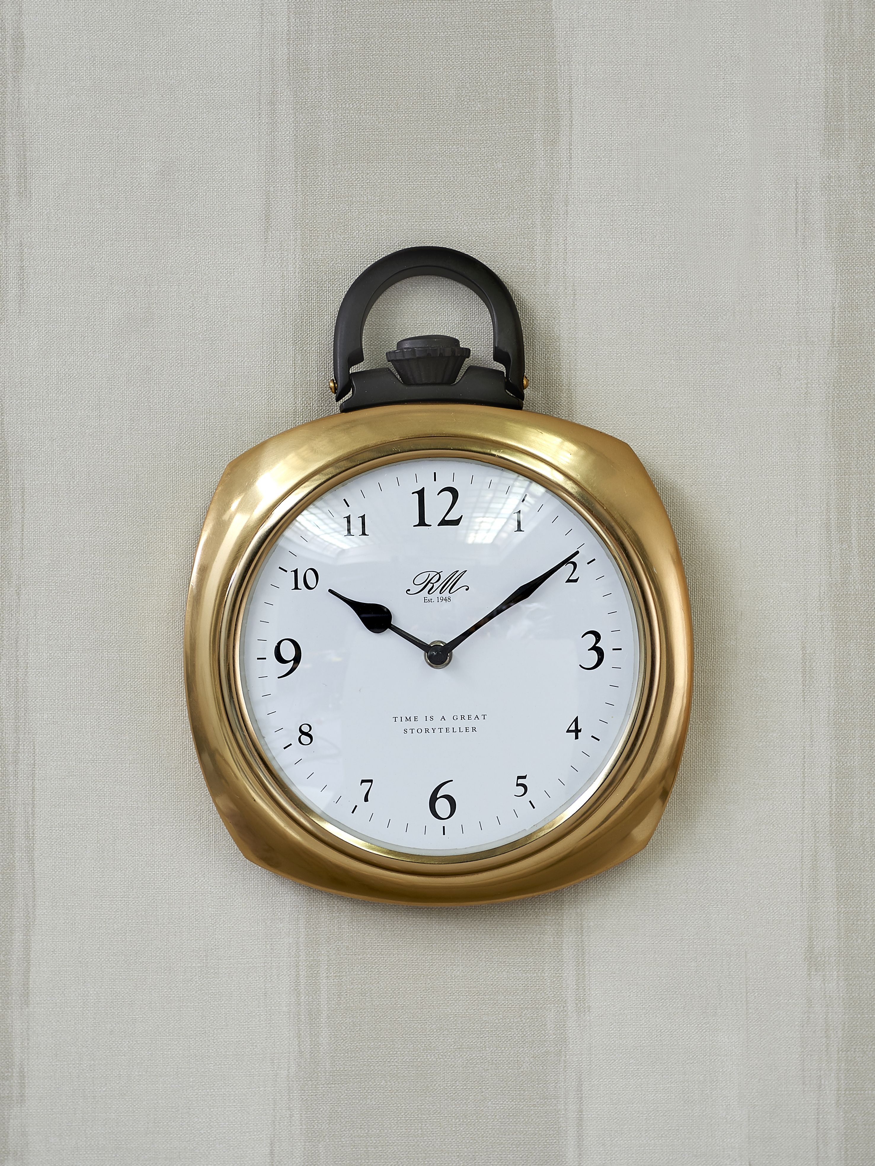 Time Is A Great Storyteller Pocket Watch Clock / Rivièra Maison