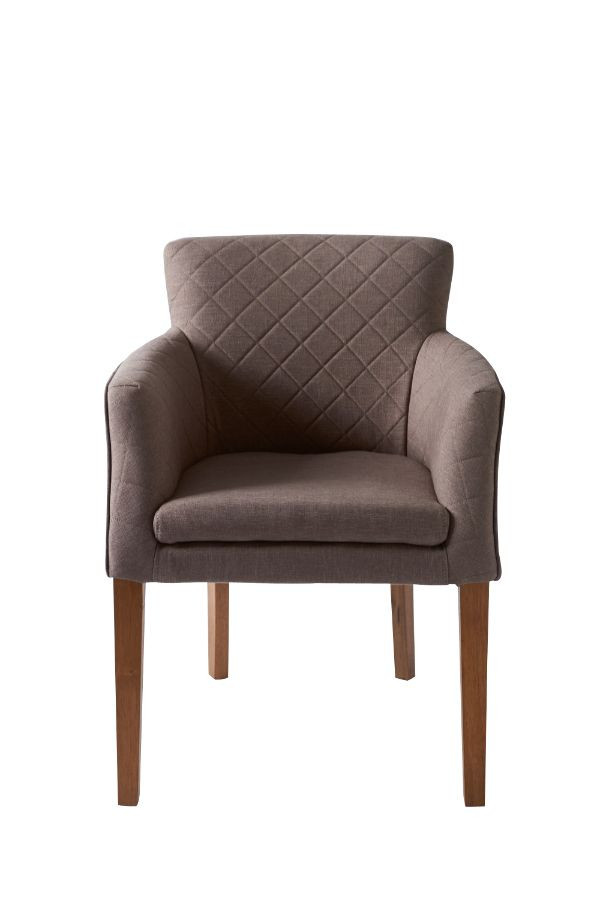 Waverly Arm Dining Chair Linen Mocca / Rivièra Maison