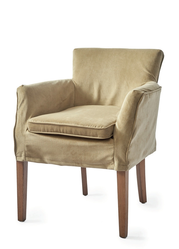 Waverly Dining Armchair with loose Cover Velvet Khaki / Rivièra Maison