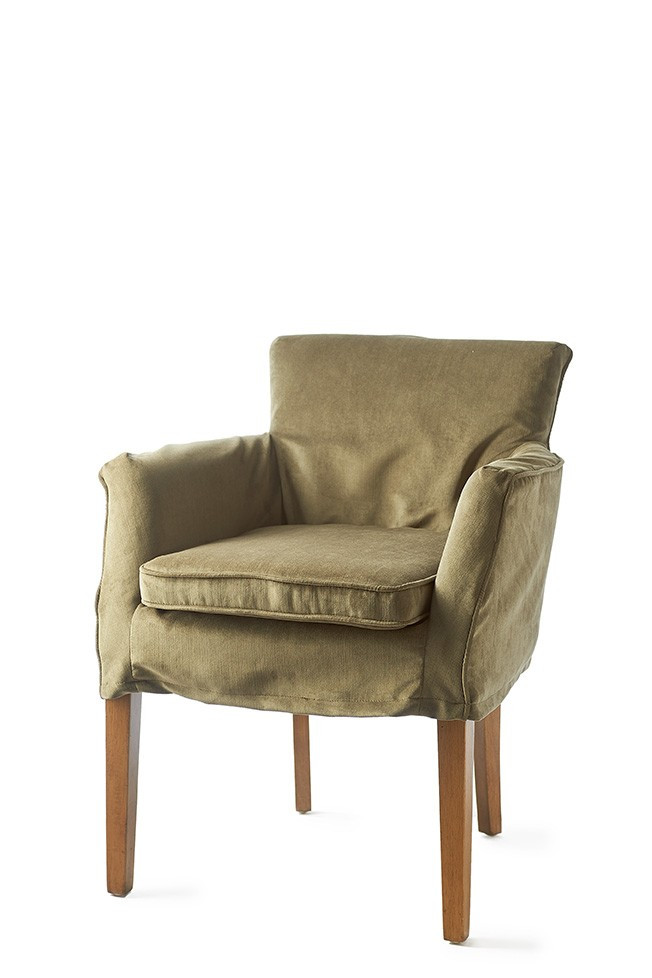 Waverly Dining Armchair with loose Cover Velvet Sea Grass / Rivièra Maison