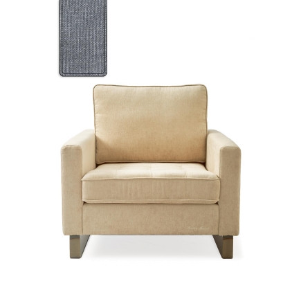 West Houston Armchair washed cotton blue / Rivièra Maison