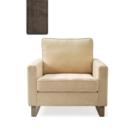 West Houston Armchair washed cotton brown / Rivièra Maison