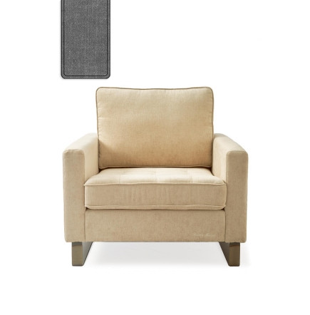 West Houston Armchair washed cotton grey / Rivièra Maison