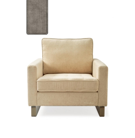 West Houston Armchair washed cotton stone / Rivièra Maison