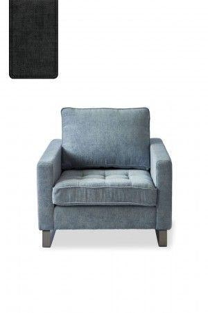 West Houston Armchair, velvet, shadow / Rivièra Maison