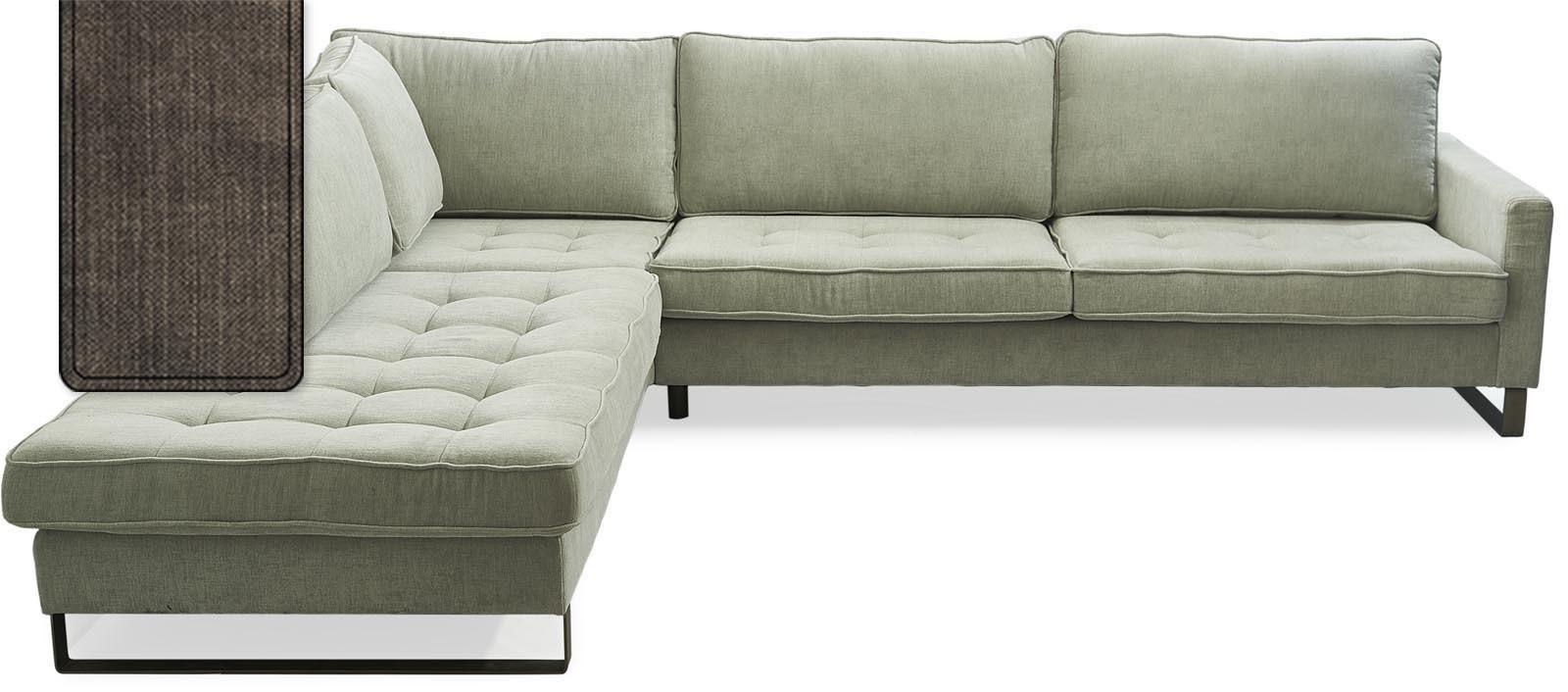 West Houston Corner Sofa Chaise Longue Left Cotton Brown / Rivièra Maison
