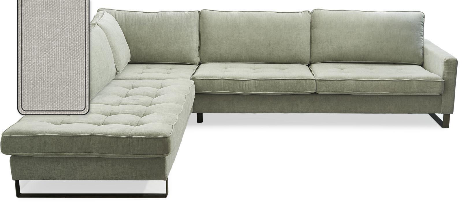 West Houston Corner Sofa Chaise Longue Left Cotton Ice Blue / Rivièra Maison