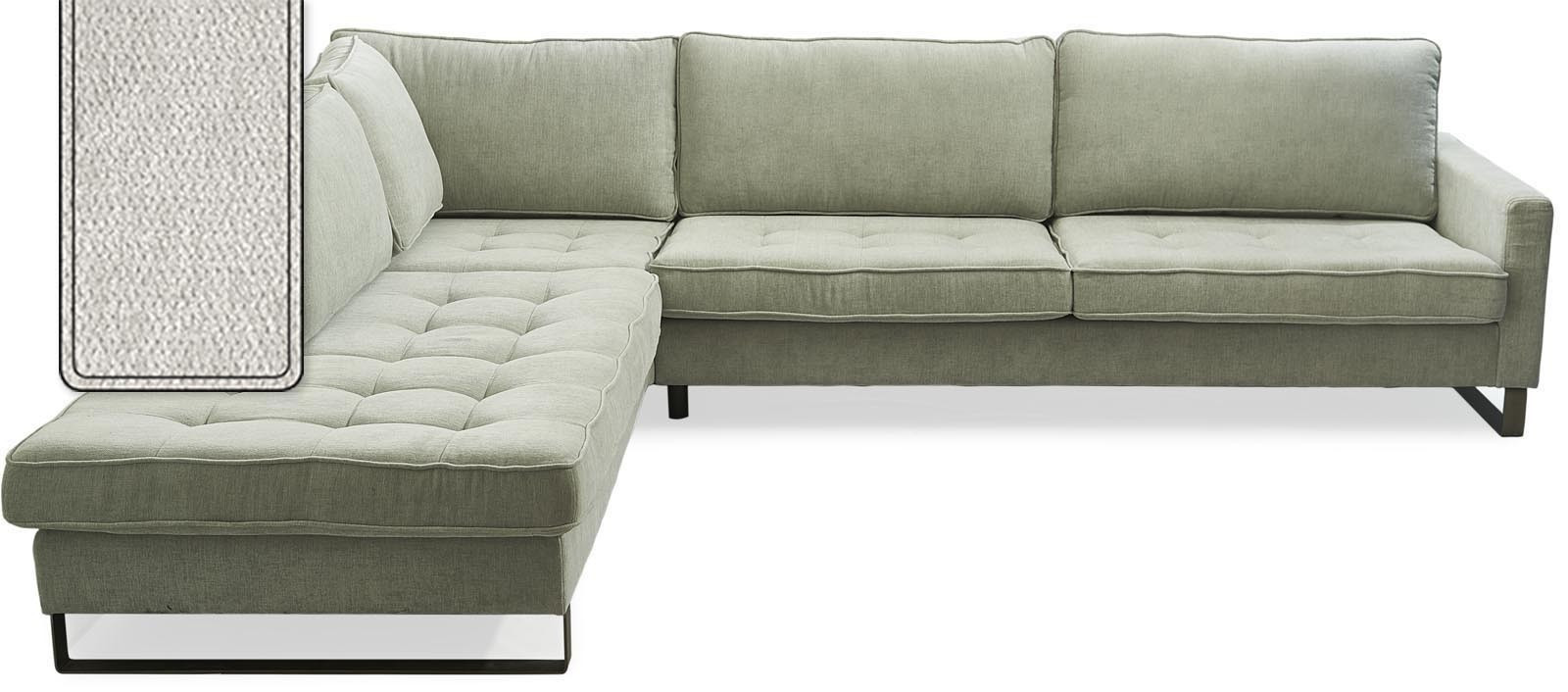West Houston Corner Sofa Chaise Longue Left Polyster-Polyacryl Pearl / Rivièra Maison