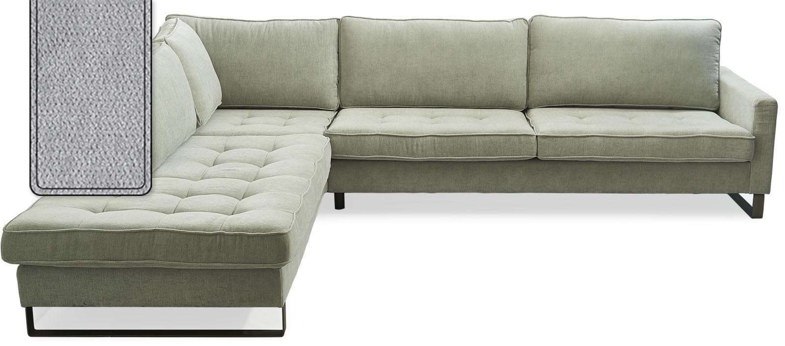 West Houston Corner Sofa Chaise Longue Left Polyster-Polyacryl Platinum / Rivièra Maison