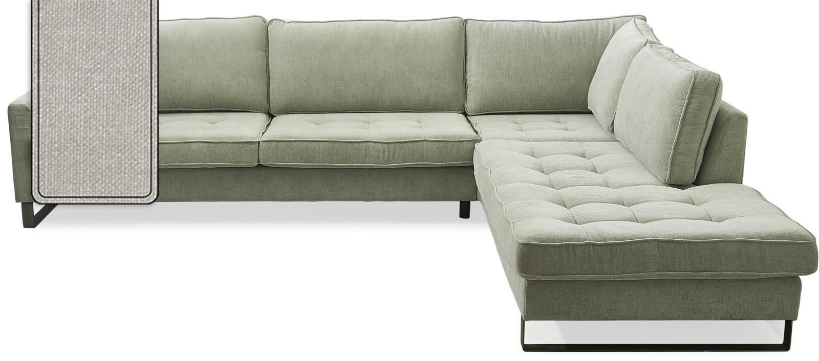 West Houston Corner Sofa Chaise Longue Right Cotton Ash Grey / Rivièra Maison