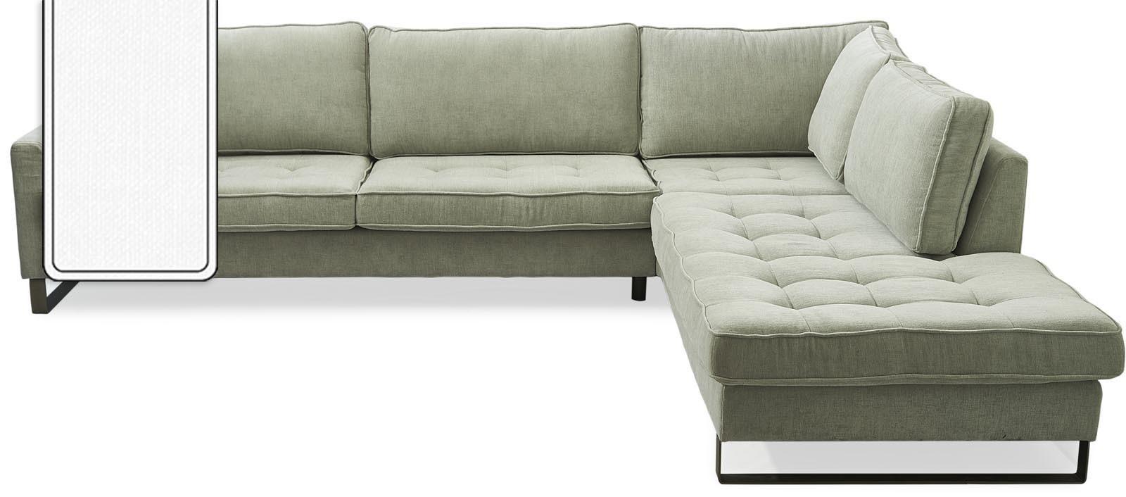 West Houston Corner Sofa Chaise Longue Right Cotton White / Rivièra Maison