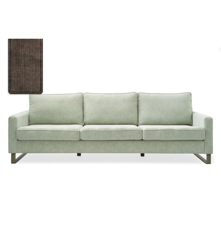 West Houston Sofa 2,5 seater washed cotton brown / Rivièra Maison