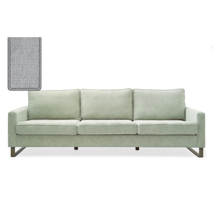 West Houston Sofa 3,5 seater polyester-polyacryl platinum / Rivièra Maison