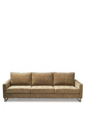 West Houston Sofa 3,5 seater, velvet, clay / Rivièra Maison