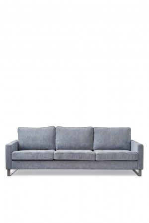 West Houston Sofa 3,5 seater, velvet, light blue / Rivièra Maison