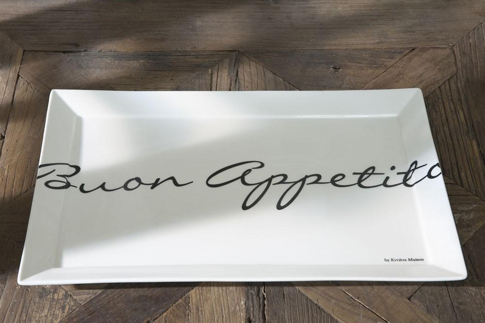 Buon Appetito Rectangular Plate 40x25 / Rivièra Maison