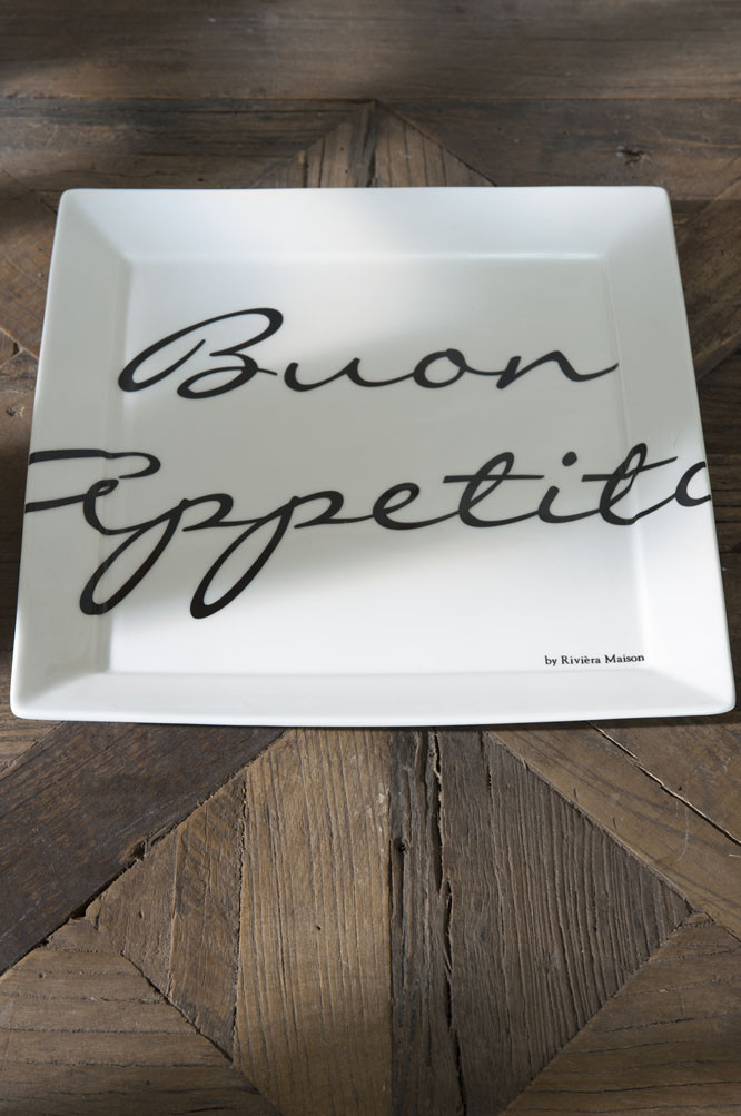 Buon Appetito Square Plate 26x26 / Rivièra Maison