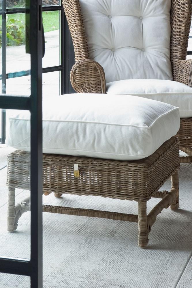 Nicolas Wing Chair Footstool / Rivièra Maison-1