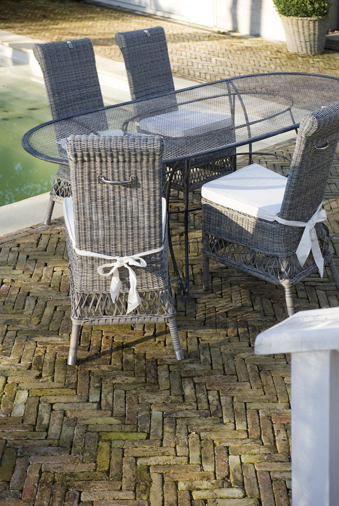 Rustic Outdoor Rattan St.Malo Wing Chair / Rivièra Maison-1