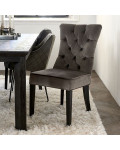 Balmoral Dining Chair velvet III anthracite / Rivièra Maison