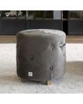 Bowery Footstool velvet III anthracite / Rivièra Maison