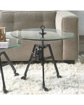 Bricklane Coffee Table Dia 70 Black / Rivièra Maison