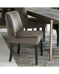 Bridge Lane Dining Chair Diamond Stitch velvet III anthracite / Rivièra Maison