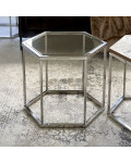 Hexagon Parc End Table Glass / Rivièra Maison