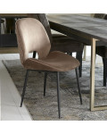Mr. Beekman Dining Chair velvet III golden mink / Rivièra Maison
