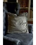 RM Chinchilla Faux Fur Border Pillow Cover 50x50 / Rivièra Maison