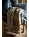 RM Polar Faux Fur Throw grey 170x130 / Rivièra Maison