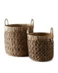 Rustic Rattan Diamond Weave Basket s 2 / Rivièra Maison