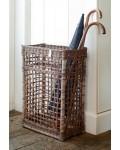 Rustic Rattan Umbrella Basket Open Weave / Rivièra Maison