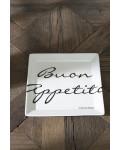 Buon Appetito Square Plate 18x18 / Rivièra Maison
