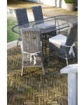 Rustic Outdoor Rattan St.Malo Wing Chair / Rivièra Maison