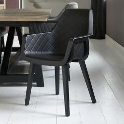 Amsterdam City Dining Armchair Black Leg black / Rivièra Maison