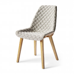 Amsterdam City Dining Chair mouline linen elephant grey / Rivièra Maison