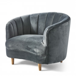 Beverly Hills Loveseat velvet midnight grey / Rivièra Maison
