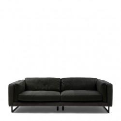 Biltmore Sofa 3,5 Seater leather charcoal / Rivièra Maison